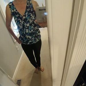 Multi blue blouse